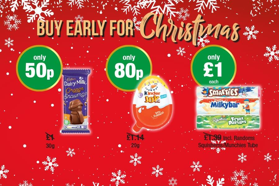 Buy Early for Christmas at Premier