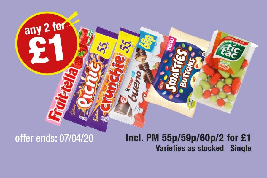 Any 2 for £1 Deals at Premier