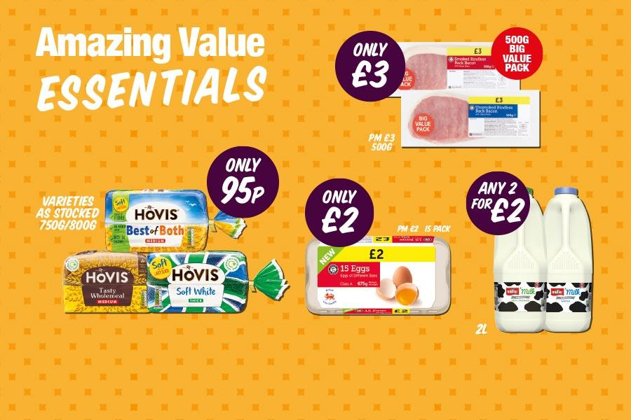 Amazing Value Essentials at Premier