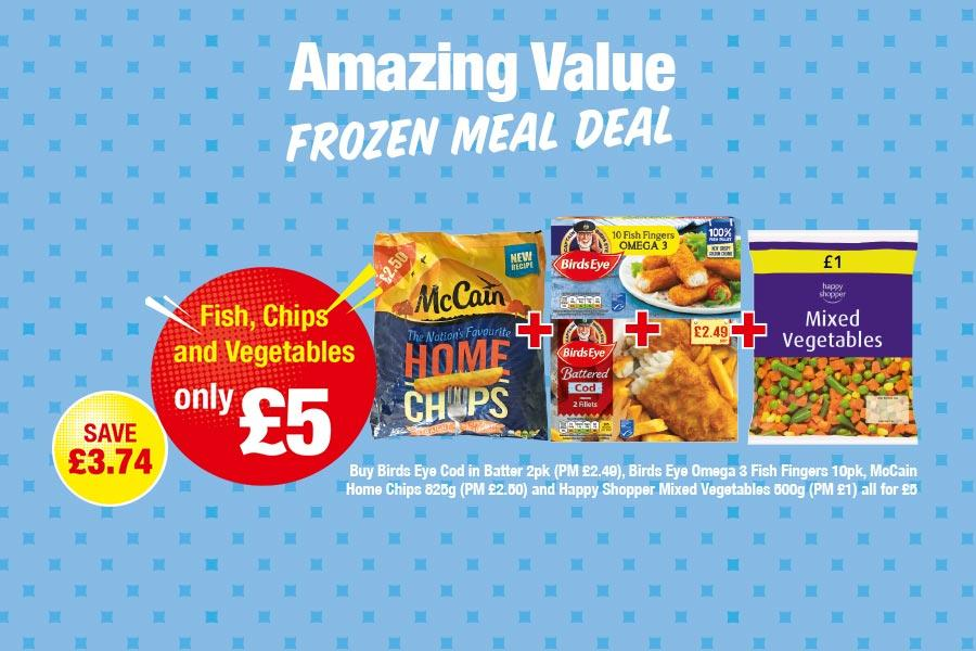 Amazing Value Frozen Meal Deal