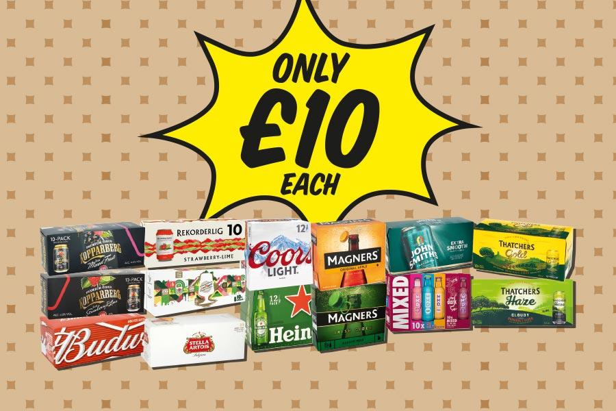 Beer and Cider only £10 at Premier