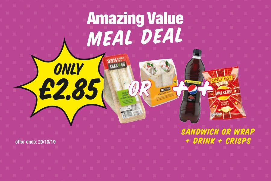 Sandwich or Wrap + Drink + Crisps - Only £2.85 at Premier
