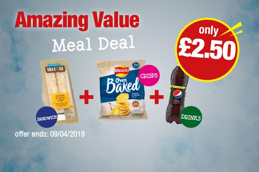 Amazing Value Meal Deal - Sandwich, Crisps, Drink Only £2.50