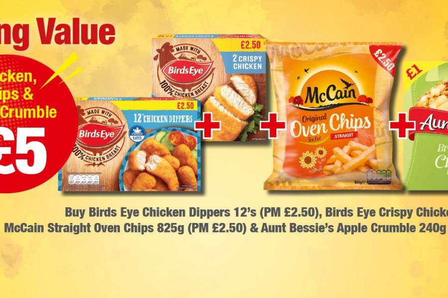 Amazing Value £5 Meal Deal