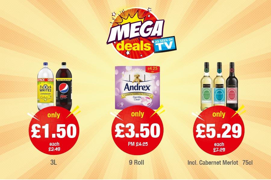 Mega Deal - R Whites: Pepsi Max: Only £1.50, Andrex: Only £3.50, Hardy's Stamp: Only £5.29