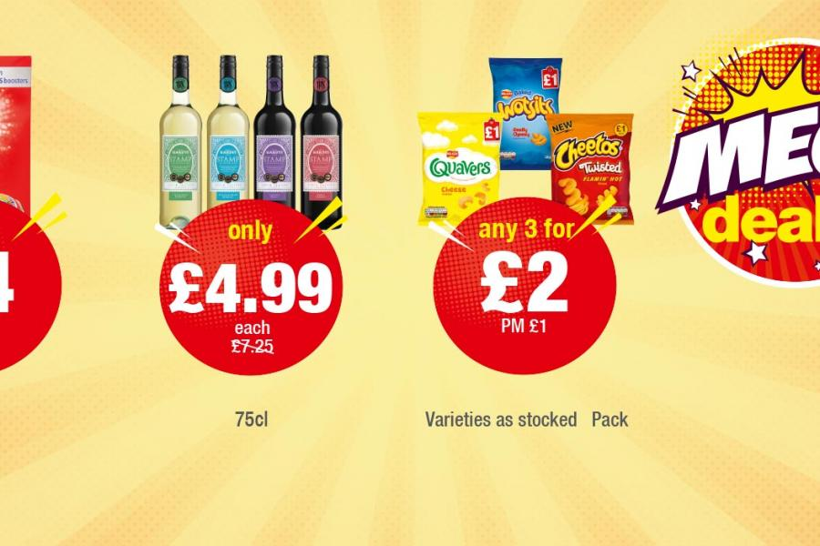 MEGA DEALS: Daz 40 Wash - Only £4. Hardys Stamp 75cl - Only £4.99 each. Quavers, Wotsits, Cheetos Twisted Pack - Any 3 for £2 at Premier