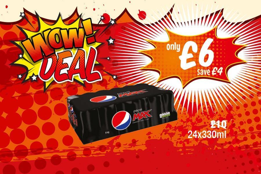 WOW DEAL: Pepsi Max 18x330ml - Only £6 at Premier