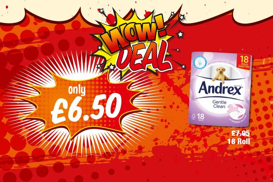 MEGA DEALS: Andrex Gentle Clean 18 Roll - Only £6.50 at Premier