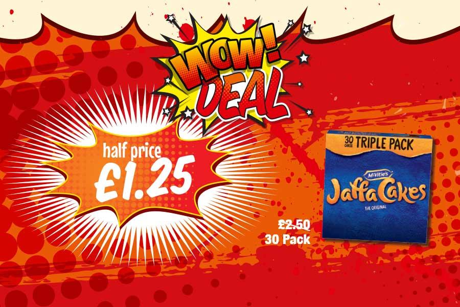 WOW DEAL: Jaffa Cakes 30 pack - Half price £1.25 at Premier