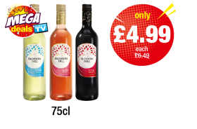 MEGA DEALS: Blossom Hill White, Red, Rose - Was £6.49 - Now only £4.99 each at Premier