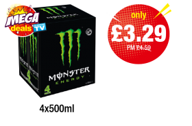 MEGA DEALS: Monster Energy - Was PM £4.59 - Now only £3.29 at Premier