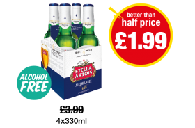 Stella Artois Alcohol Free - Better Than Half Price - Was £3.99 - Now only £1.99 at Premier