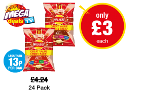 MEGA DEALS: Walkers Classic, Meaty - Was £4.24 - Now only £3 each at Premier