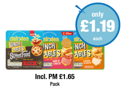 Dairylea Lunchables StreetFood Pizza, Ham 'N' Cheese, Chicken 'N' Cheese - Was PM £1.65 - Now only £1.19 each at Premier