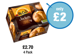 McCain Jackets - Was £2.70 - Now only £2 at Premier