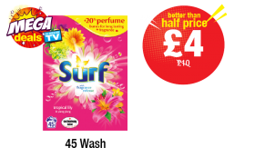 MEGA DEALS: Surf Powder Tropical - Was £10 - Now £4 at Premier