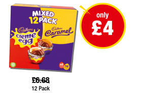 Cadbury Mixed 12 Pack Creme Egg, Caramel - Was £6.68 - Now only £4 at Premier