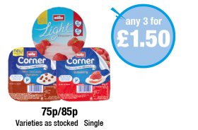 Muller Corner Strawberry, Milk Chocolate Digestive, Muller Light Strawberry - 75p, 85p - Any 3 for £1.50 at Premier