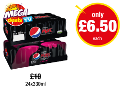 Pepsi Max, Max Cherry - Was £10 - Now only £6.50 each at Premier