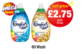 MEGA DEALS: Comfort Intense Fabric Conditioner Fresh Sky, Luxurious - Was £5.50 - Now Half Price £2.75 each at Premier