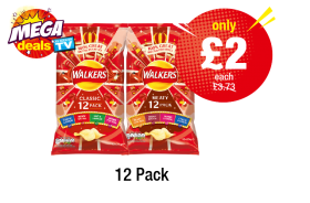 MEGA DEALS: Walkers Classic, Meaty - Was £3.73 - Now only £2 each at Premier