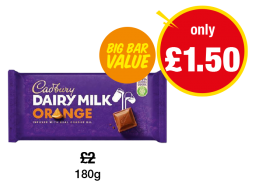 Cadbury Dairy Milk Orange - Was £2 - Now only £1.50 at Premier