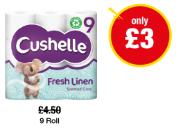 Cushelle Fresh Linen Toilet Tissue - Was £4.50 - Now only £3 at Premier