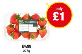 Farm Fresh Strawberries - Was £1.99 - Now only £1 at Premier