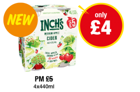 Inch's Medium Apple Cider - Was PM £5 - Now only £4 at Premier