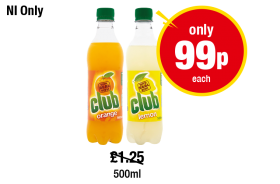 NORTHERN IRELAND ONLY:  Club Orange, Lemon, Was £1.25 - Now Only 99p Each at Premier