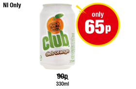 NORTHERN IRELAND ONLY: Club Orange Diet, Was 90p - Now Only 65p at Premier