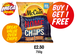 MEGA DEALS: McCains HomeChips, £2.50 - Buy 1 Get 1 Free at Premier