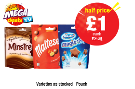 MEGA DEALS: Minstrels, Maltesers, Milky Way Magic Stars, Was £2.09 - HALF PRICE £1 each at Premier