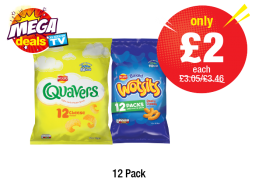MEGA DEAL: Quavers, Wotsits - Was £3.05/£3.46 - Only £2 each at Premier