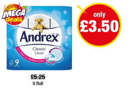 Andrex Classic Clean - Was £5.25 - Now only £3.50 at Premier