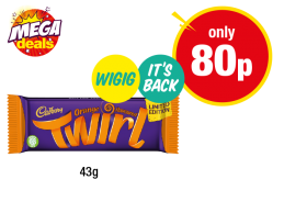 Cadbury Orange Flavoured Twirl - Now only 80p at Premier