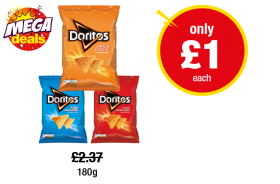 Doritos Tangy Cheese, Cool Original, Chilli Heatwave - Was £2.37 - Now only £1 at Premier
