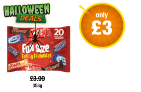 Fun Size Family Favourites - Was £3.99 - Now only £3 at Premier
