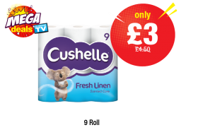 MEGA DEAL: Cushelle Fresh Linen, Was £4.50 - Now only £3 at Premier