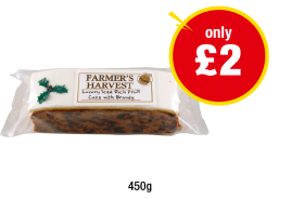 Farmer's Harvest Rich Fruit Cake with Brandy - Now only £2 at Premier