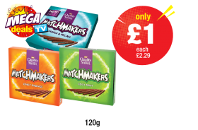MEGA DEALS: Matchmakers Cool Mint, Orange, Maple & Pecan - Was £2.29 - Now only £1 each at Premier