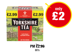 Yorkshire Tea - PM Was £2.99 - Now only £2 at Premier