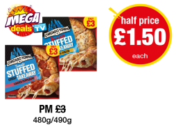 MEGA DEALS: Chicago Town Stuffed Crust Takeaway Pizza Loaded Pepperoni, Loaded Cheese - Was PM £3 - Now Half Price - £1.50 each at Premier